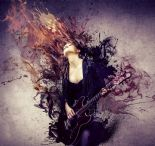 Grunge Wallpaper Mural Guitar Girl G45282 By Galerie